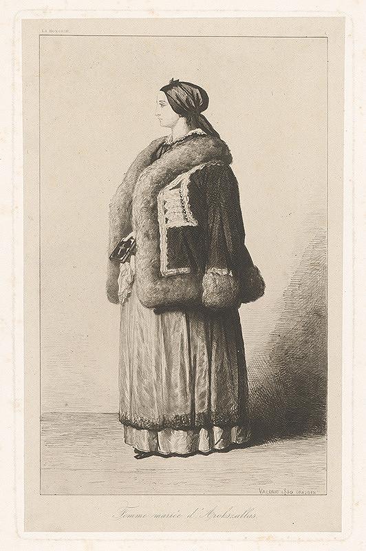 Théodore Valério – Žena v krátkom kožúšku
