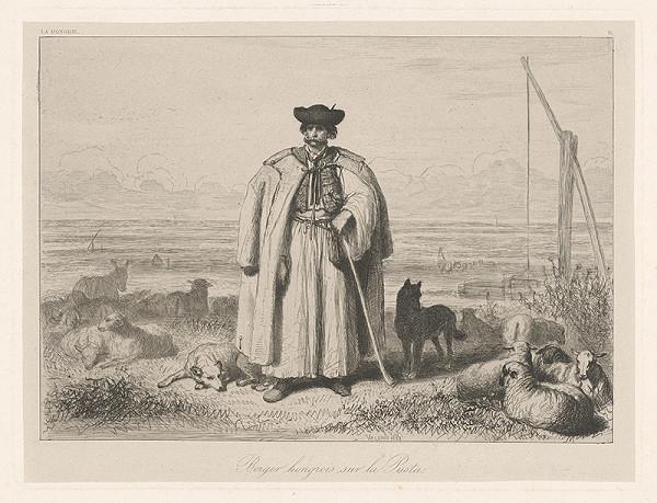 Théodore Valério – Maďarský pastier na puste
