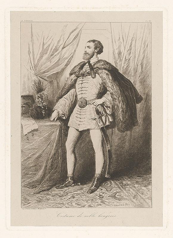 Théodore Valério – Kostým maďarského šľachtica