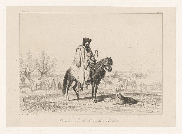 Théodore Valério – Maďarský pastier koní