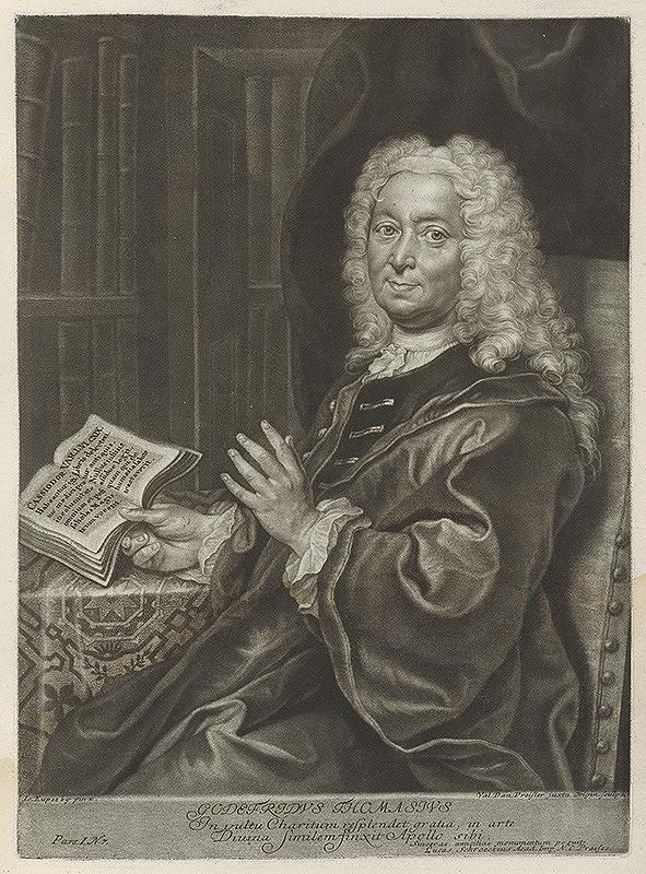 Ján Kupecký, Valentin Daniel Preisler - Portrét univerzitného profesora Gottfrieda Thomasiusa z Altdorfu