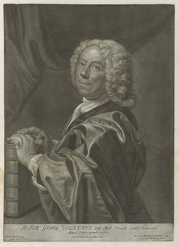 Ján Kupecký, Bernhard Vogel – Portrét univerzitného profesora Johanna Georga Volkammera z Altdorfu
