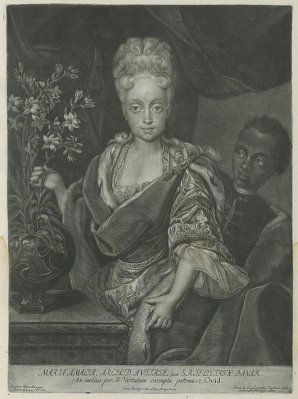 Ján Kupecký, Bernhard Vogel - Portrét arcivojvodkyne Márie Amálie Habsburskej