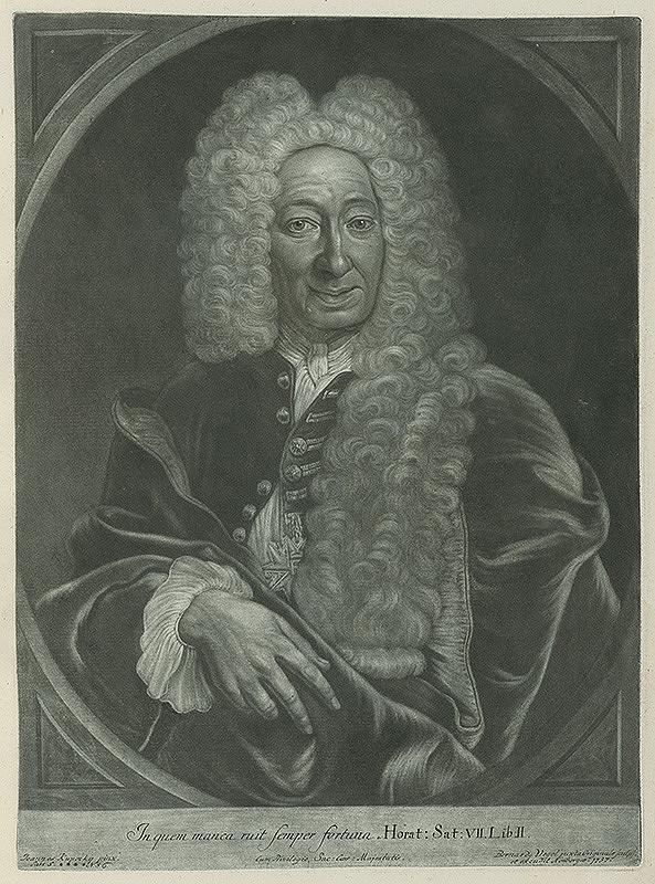 Ján Kupecký, Bernhard Vogel - Portrét ministra Johanna Fridricha Bachova von Echt