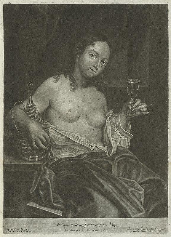 Ján Kupecký, Bernhard Vogel - Pijúca žena - Representatio gustus