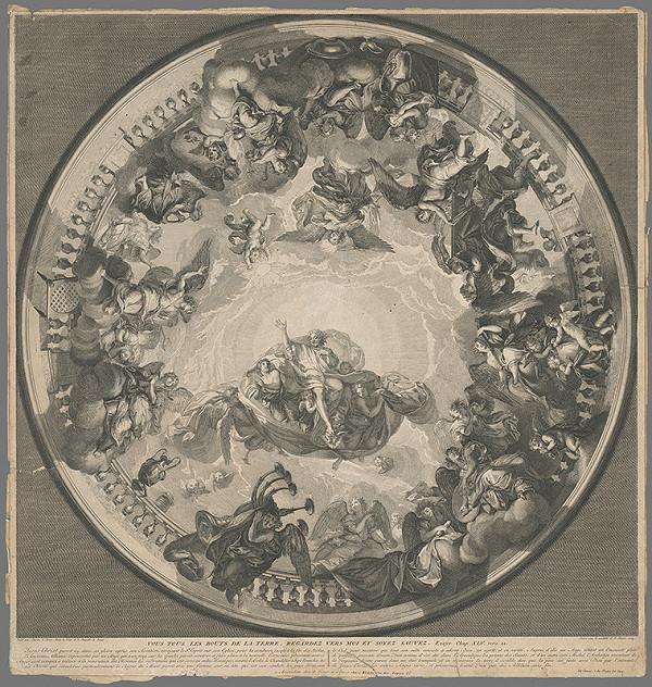 Bernard Picart, Charles le Brun – Návrh na výzdobu kupolovitého stropu v kaplnke