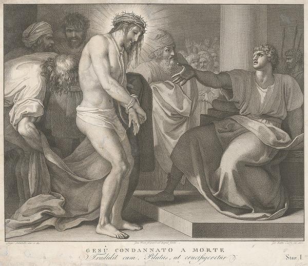 Luigi Sabatelli, Giovanni Batta – Ježiš pred Pilátom