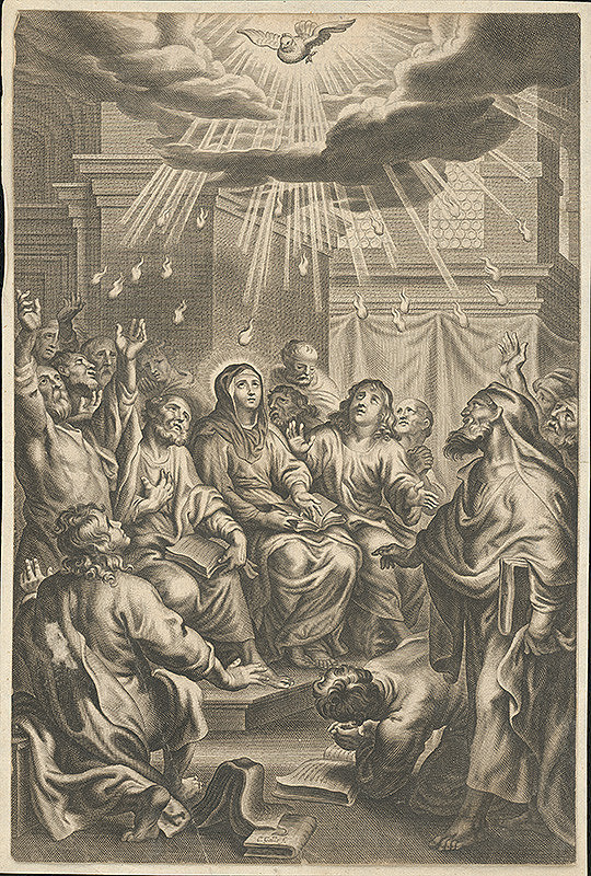Cornelis Galle II., Abraham Jansz. van Diepenbeeck – Zoslanie Ducha Svätého
