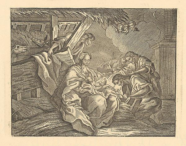 Stredoeurópsky grafik z 18. storočia – Klaňanie pastierov