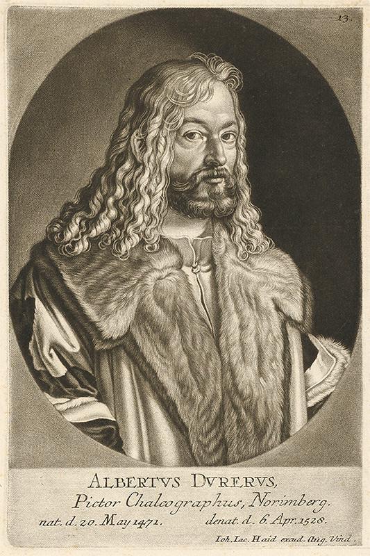 Johann Jacob Haid – Portrét Alberta Dürera