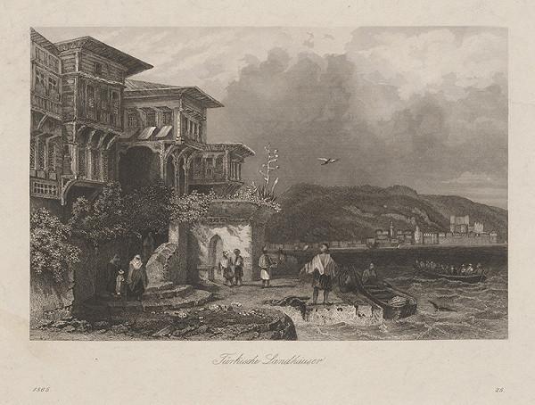 Stredoeurópsky grafik z 19. storočia - Turecká krajina