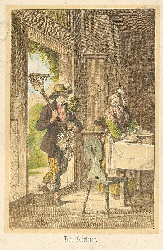 Stredoeurópsky grafik z 19. storočia – Záhradník