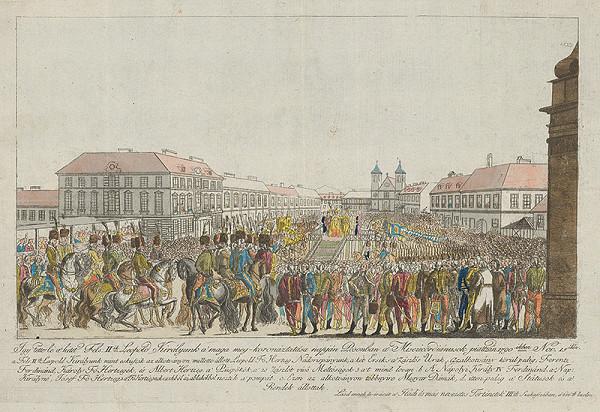 Stredoeurópky grafik z 2. polovice 18. storočia – Korunovácia Leopolda II.