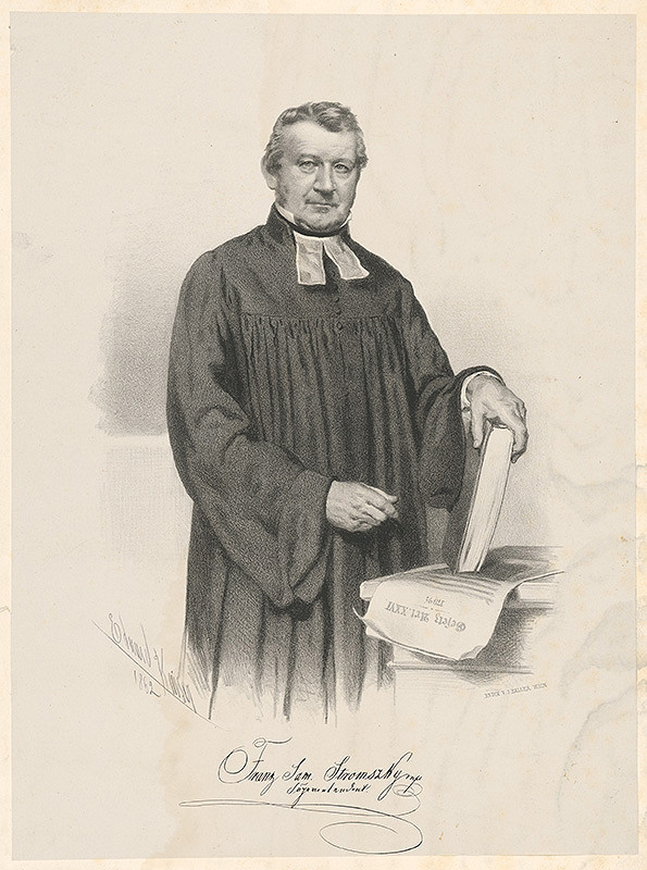 Eduard Kaiser – Portrét Franza Samuela Stromszkého