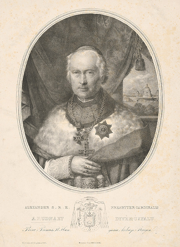 Friedrich Johann Gottlieb Lieder - Portrét arcibiskupa Alexandra Rudnaya