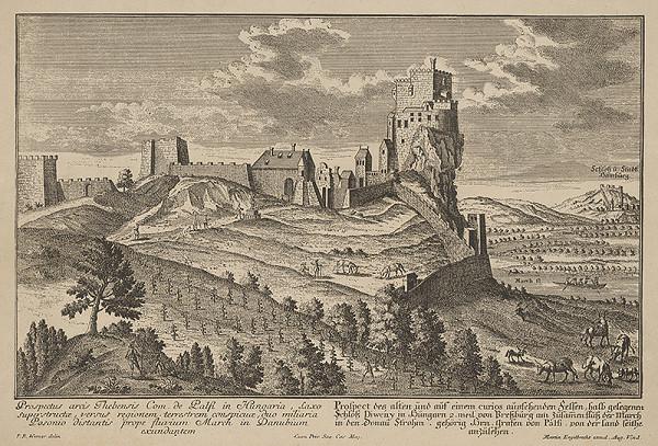 Friedrich Bernhard Werner, Martin Engelbrecht - Pohľad na hrad Devín