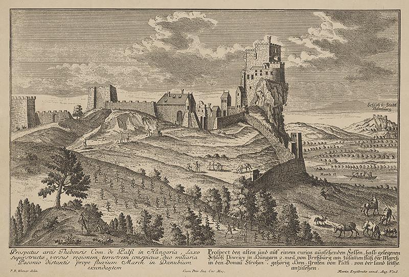 Friedrich Bernhard Werner – Pohľad na hrad Devín, 1750, Galéria mesta Bratislavy