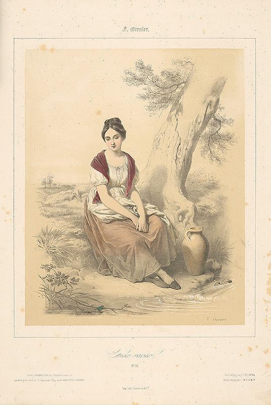 Francois Grenier - Dievča s krčahom