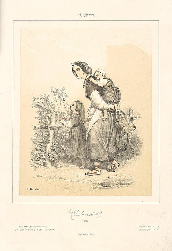 Francois Grenier - Mladá žena s dvomi deťmi