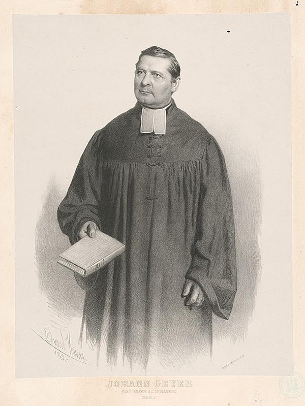 Eduard Kaiser – Portrét Johana Geyera