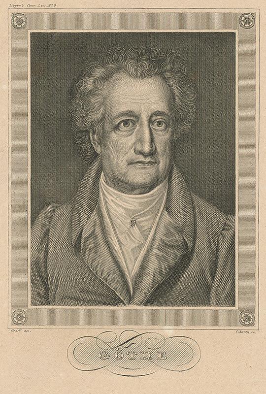 Carl Barth, Anton Graff – Johann Wolfgang von Goethe