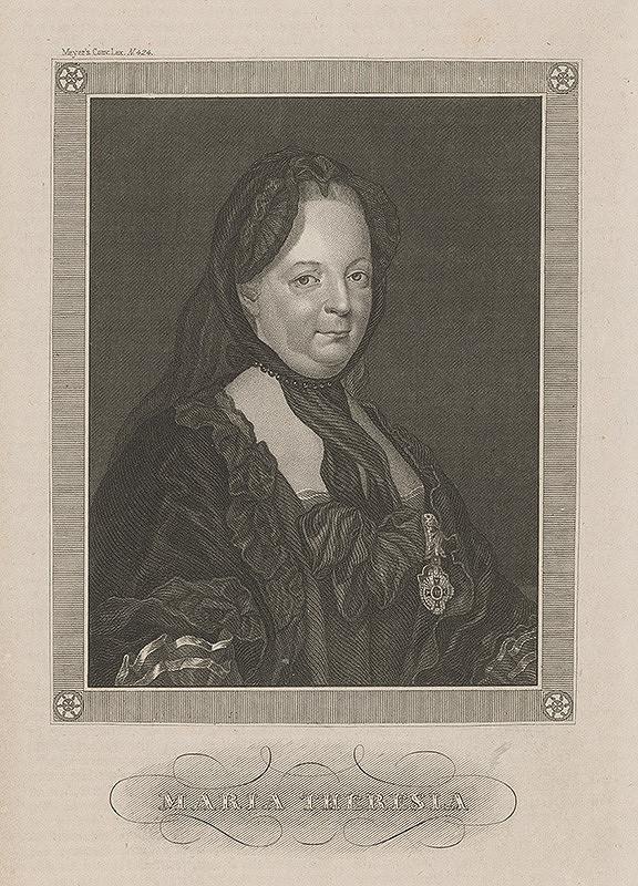 Stredoeurópsky grafik z 18. storočia, Joseph Ducreux – Mária Terézia