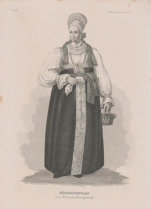Stredoeurópsky maliar z 19. storočia - Žena z Nižného Novgorodu
