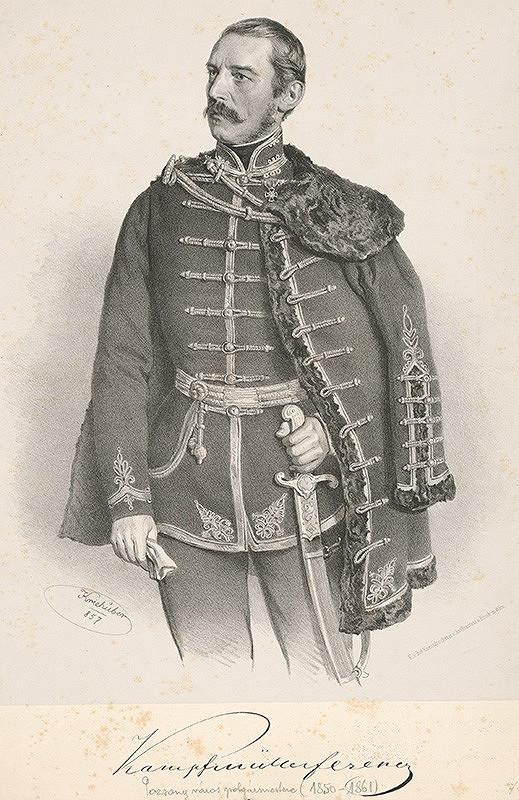 Joseph Kriehuber – Portrét Kampfmüllera Ferenca