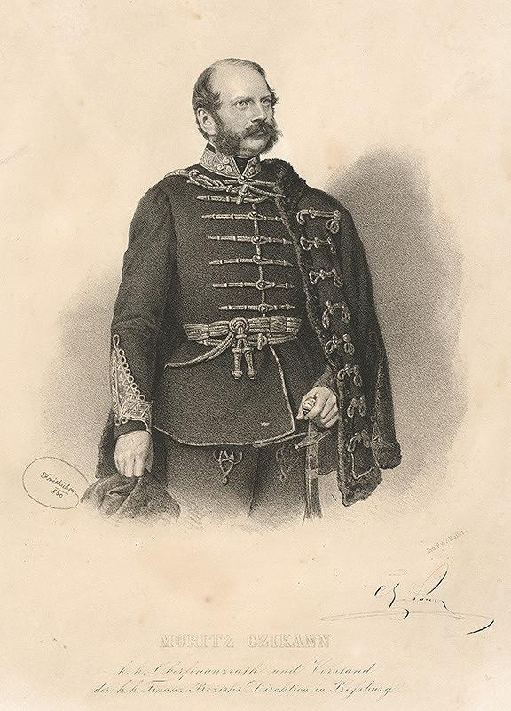 Joseph Kriehuber - Portrét Mórica Czikanna