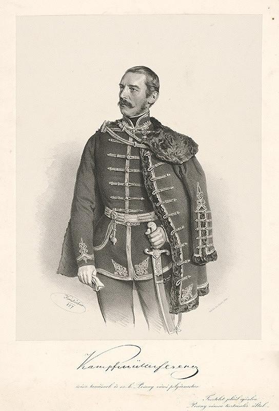 Joseph Kriehuber - Portrét Kampfmüllera Ferenca