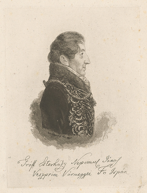 Ferdinand Karl Theodor Lütgendorff – Gróf Ján Nepomuk Esterházy