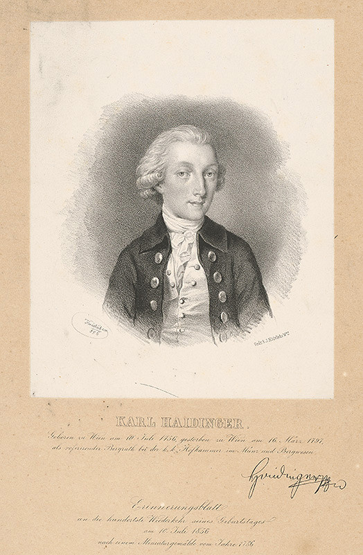 Joseph Kriehuber - Portrét Karola Haidingera