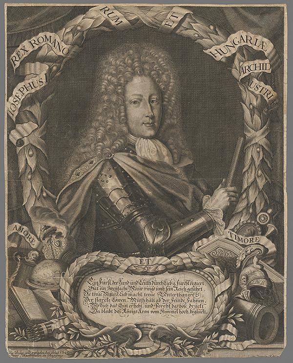 Georg Christoph Kilian - Portrét cisára Jozefa I.