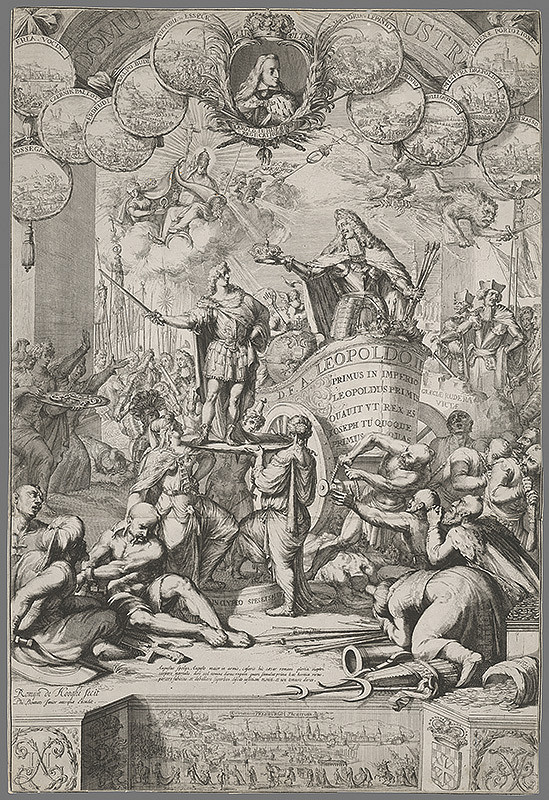 Romeyn de Hooghe - Leopold I. dáva korunu Jozefovi I.