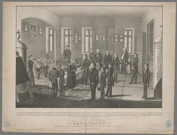 Franz Wolf, Ignaz Josef Weissenberg - Návšteva Ferdinanda V. v hebrejskej nemeckej škole v Bratislave