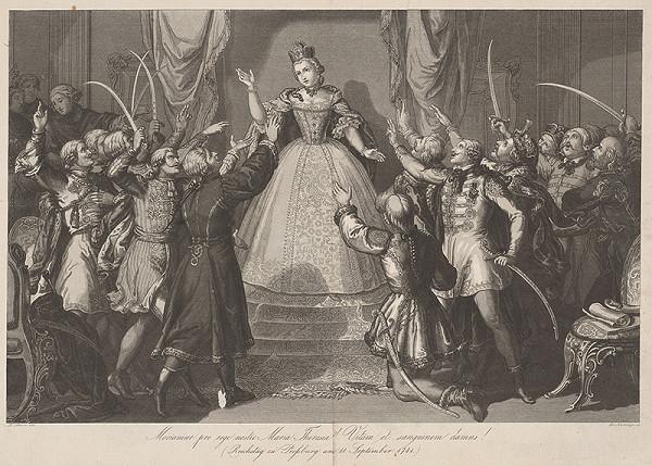 Lorenz Neumayer, R. Schein – Mária Terézia na uhorskom sneme 1741