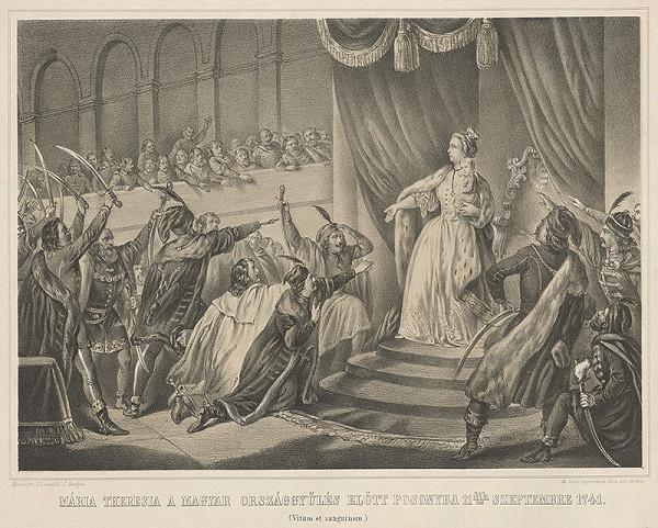 Carl Lanzadelli - Mária Terézia na uhorskom sneme 1741