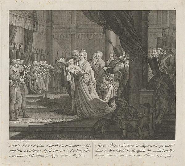António Zatta - Mária Terézia na uhorskom sneme 1741