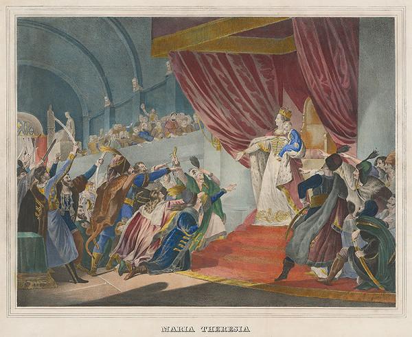 Neznámy autor – Mária Terézia na uhorskom sneme 1741