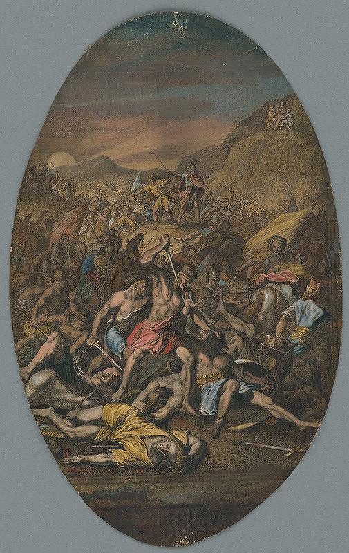 Stredoeurópsky maliar zo 17. storočia - Jozue bojuje s Amalechom