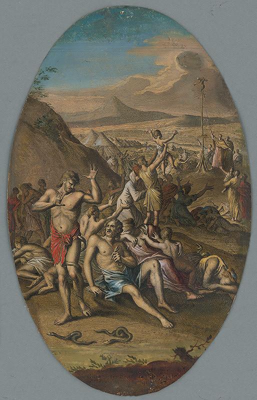 Caspar Luyken - Izraelitov hryzú jedovaté hady