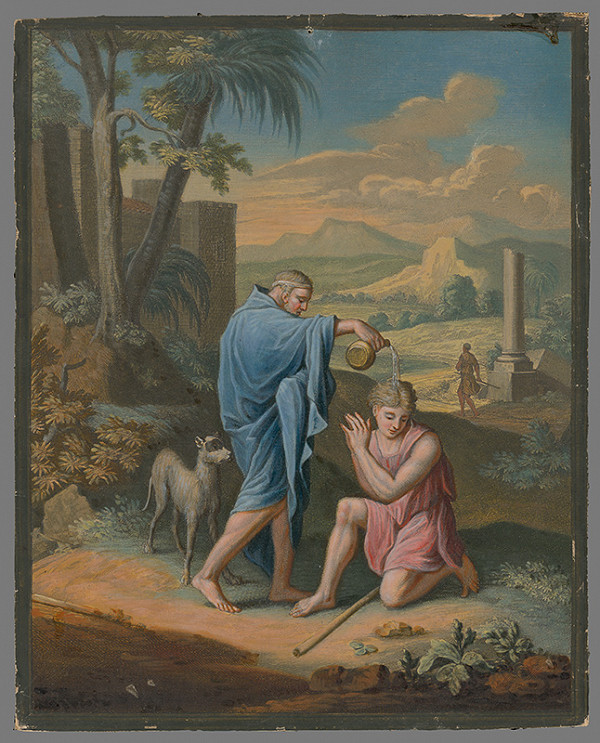 Caspar Luyken, Christoph Weigel st. – Pomazanie Saula Samuelom