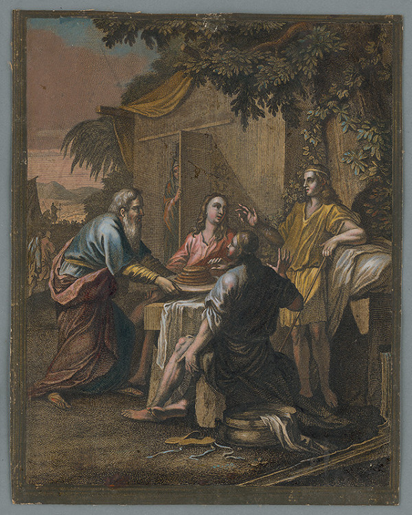 Caspar Luyken – Abrahám hostí troch anjelov