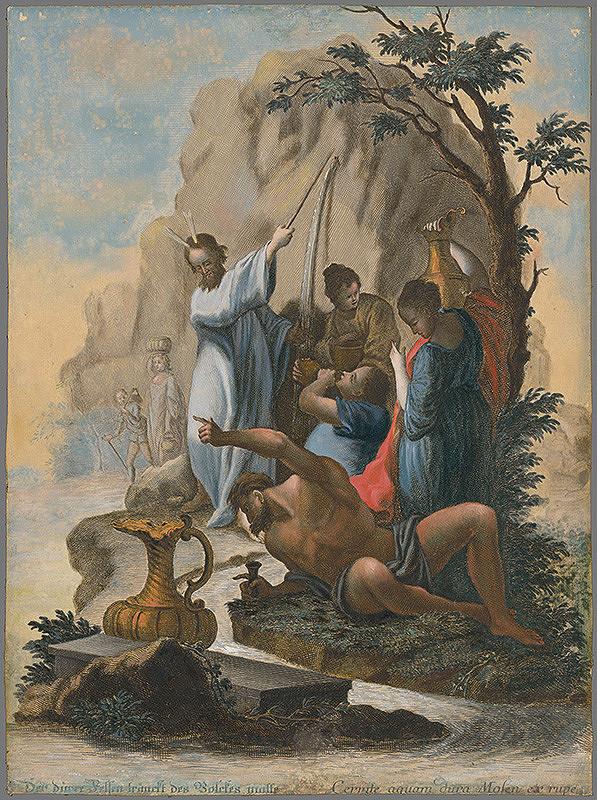 Johann Georg Hertel, Franz Sigrist st. - Mojžišov zázrak s vodou