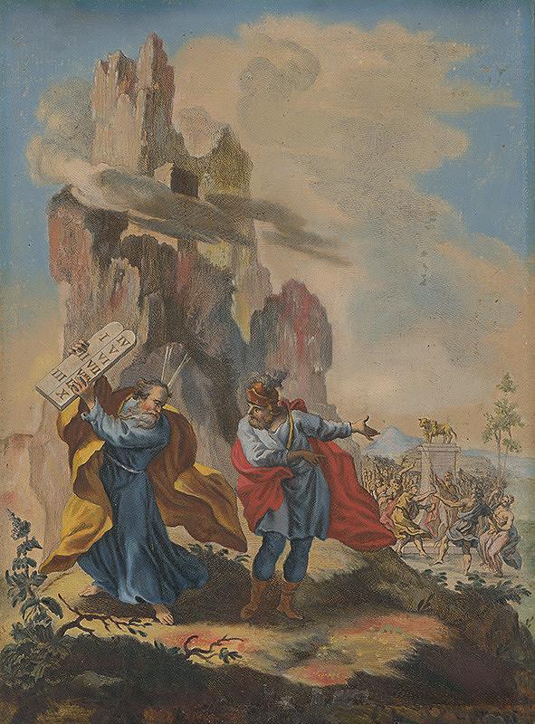Stredoeurópsky maliar zo 17. storočia - Mojžiš rozbíja dosky