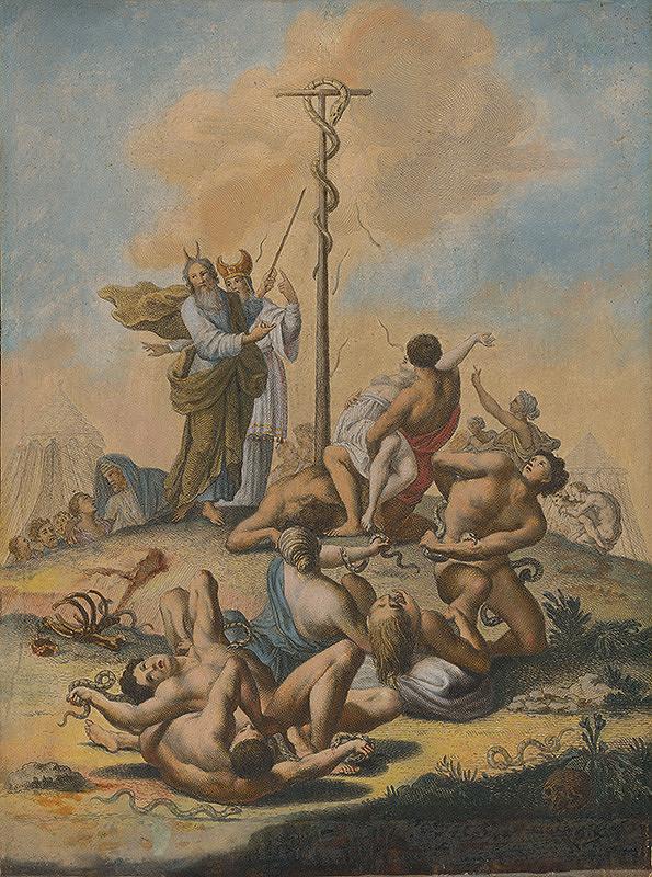 Stredoeurópsky maliar zo 17. storočia - Mojžiš ukazuje mosadzného hada