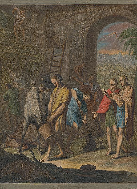 Caspar Luyken, Christoph Weigel – Piata egyptská rana - mor egyptského dobytka