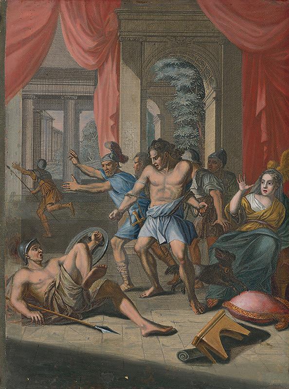 Caspar Luyken, Christoph Weigel st. – Samson trhá putá a bije filištíncov