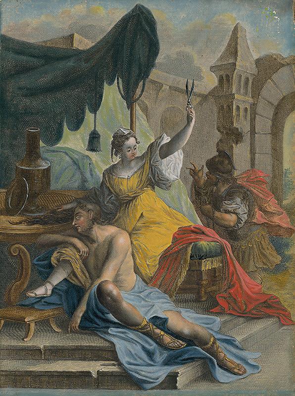 Stredoeurópsky maliar zo 17. storočia - Dalila strihá vlasy Samsonovi