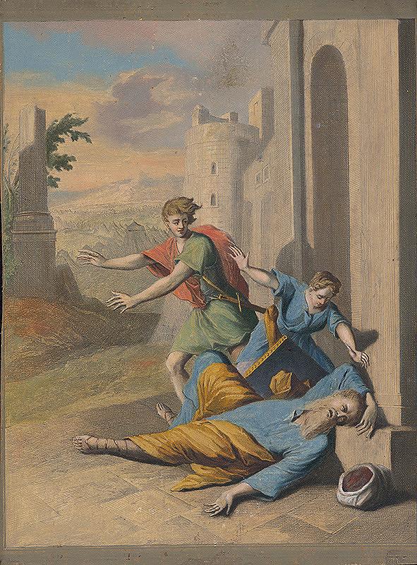 Caspar Luyken, Christoph Weigel st. - Smrť Eliho
